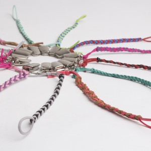 Custom made braided pacifier clips